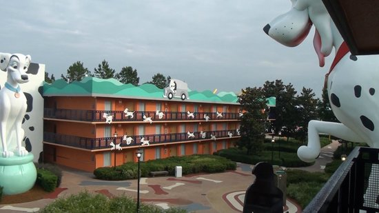 Disney's All-Star Movies Resort : View from front door of our room 3rd floor.
