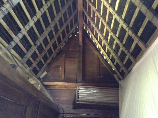 Bambu Indah: ceiling of room