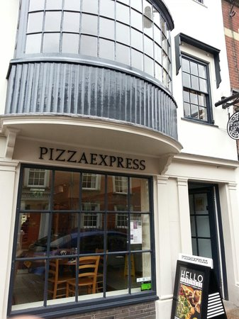 Posh Microwave Food Pizza Express Lewes Traveller
