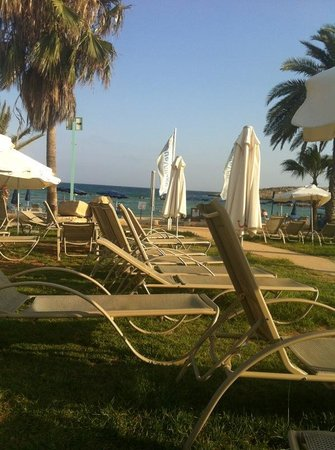 Callisto Holiday Village: beach view from sunbeds