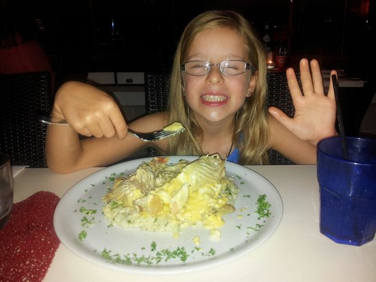 La Dolce Vita: Our daughter enjoying moreton bay bug risotto after waiting for 2 years for it for her birthday