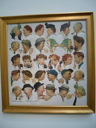 Norman Rockwell Museum: The gossips - final artwork