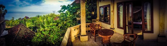 Anugerah Villas: View from the Large Balcony of the Ocean View Villa