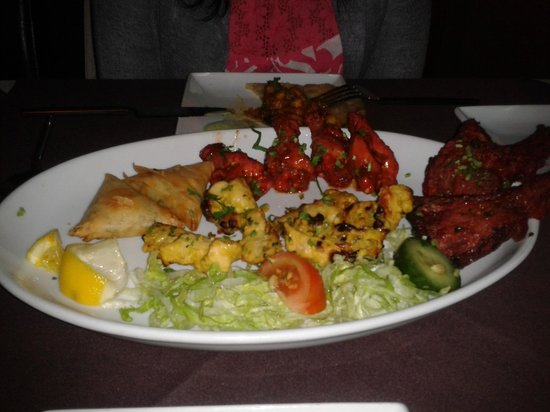 Sizzler Indian Restaurant: Selection of starts, take note, nazakat chicken is amazing!