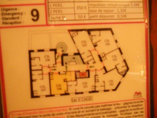 Villa Royale Montsouris: First floor plan