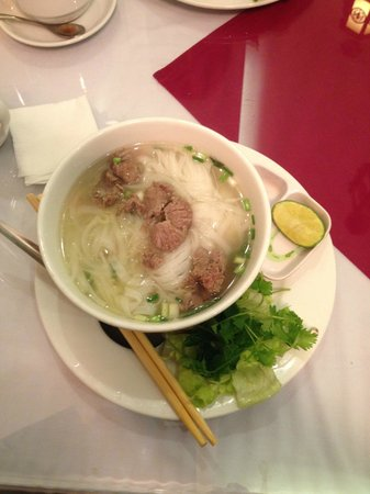 Hanoi Charming Hotel: Traditional Pho for breakfast.