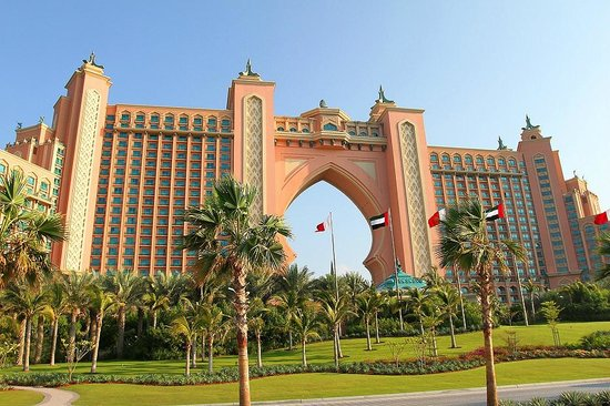 Atlantis, The Palm: exterior view of hotel