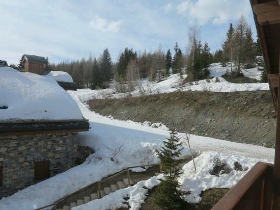 Residence CGH les Cimes Blanches - La Rosiere 1850 : Vue terrasse
