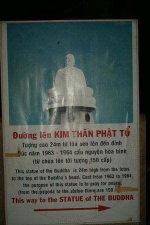 Long Son Pagoda : табличка