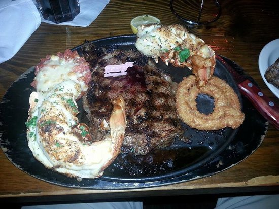 McGuire's Irish Pub: USDA Prime Ribeye and 18oz Lobster tail !!