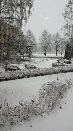 Radisson Blu Hotel, Espoo: Esterno innevato