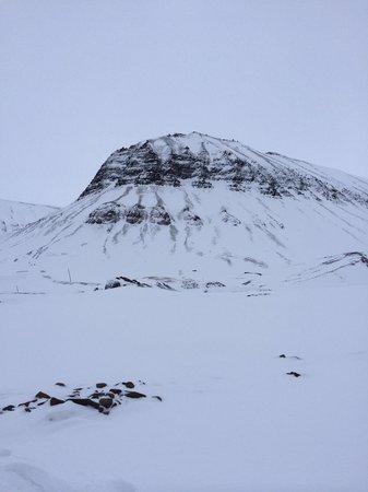 Svalbard Wildlife Expeditions: The mountain climbed during the glacier walk