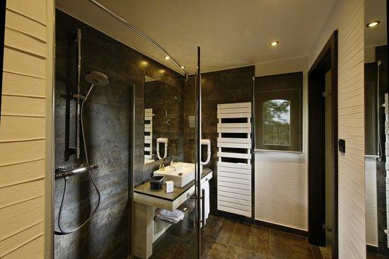 Hotel Restaurant L'Ami Fritz : Salle de bain DELUXE