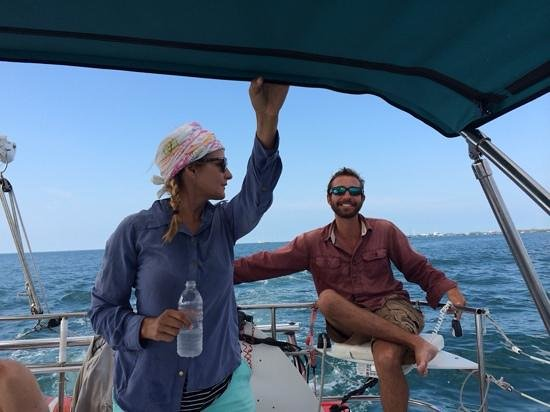 Catamaran Echo: The Commodore Noah and his First Mate Mel