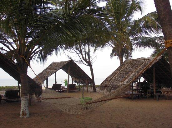 Kadappuram Beach resort: Strandhütte