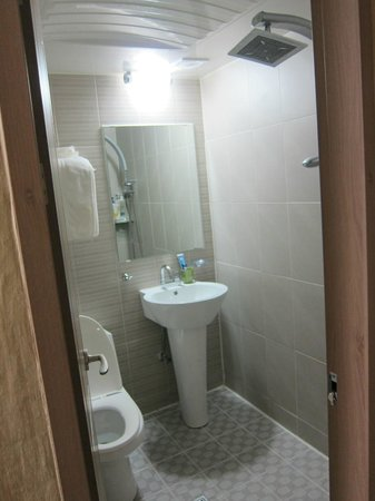 Suitcasers: Double room bathroom