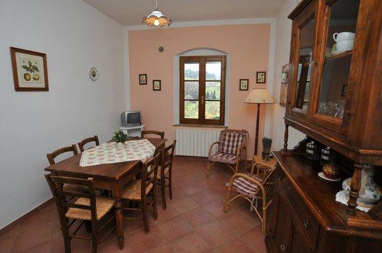 Cucina soggiorno appartamento IL DAINO - Bild von Fattoria Di ...