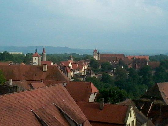 Hotel Eisenhut: Vue sur les toits de la ville et les environs