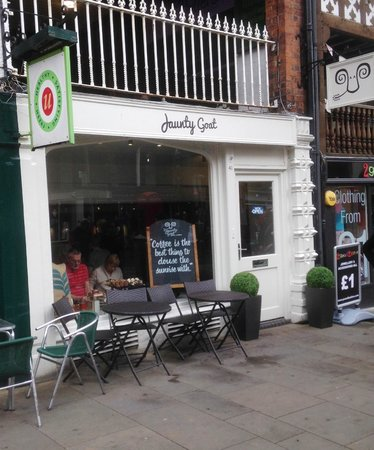 Jaunty Goat Coffee: The Jaunty Goat in Bridge Street, Chester.