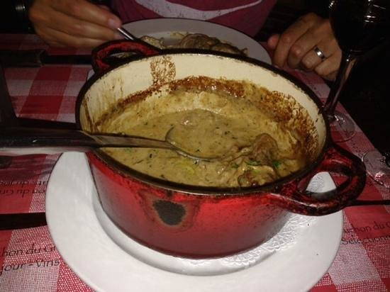 Le Bouchon du Grove : chicken fricase & mushroom rissoto