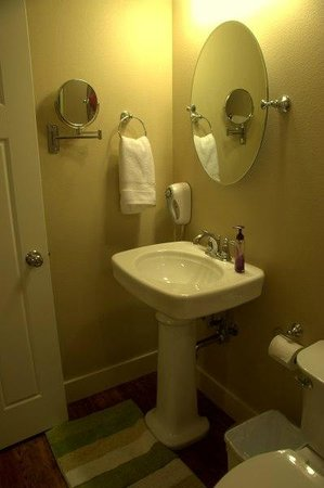 The Crossings Bed & Breakfast : One of the sinks in the Josephine suite.