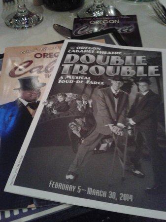 Oregon Cabaret Theatre: Bad Double Trouble for sure.......