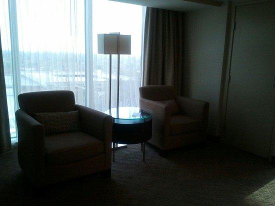 Hilton Anaheim: Desk area