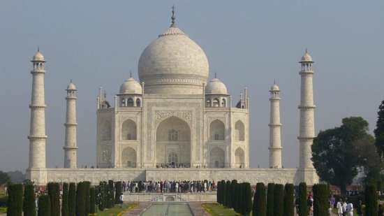 Mansingh Palace, Agra : Le Taj Mahal dans toute sa splendeur.
