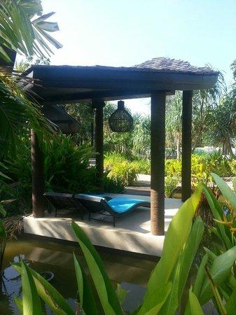 Natai Beach Resort & Spa, Phang-nga: The pool sunbeds