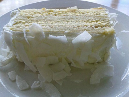 Mix Sweet Shop: Lemon, Passionfruit and Creamcheese layered Sponge with Coconut Flakes