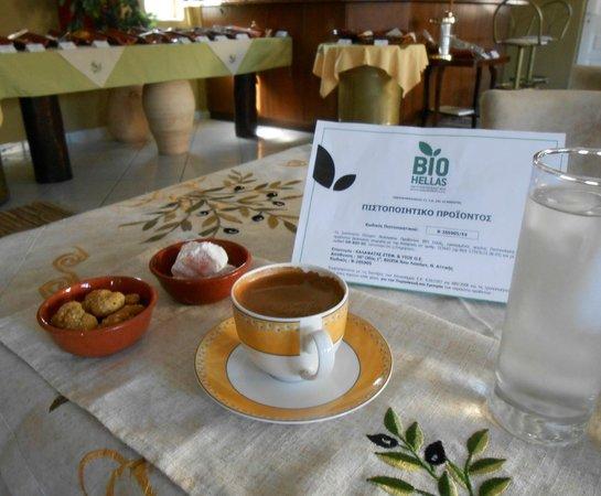 Hotel Apartments Kleopatra: Organic Greek Coffee