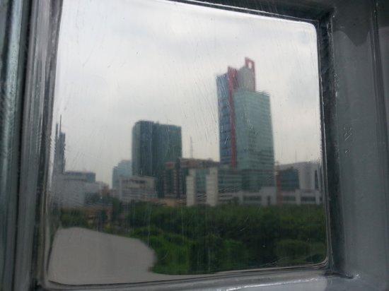 Rasuna Icon: view from glass window