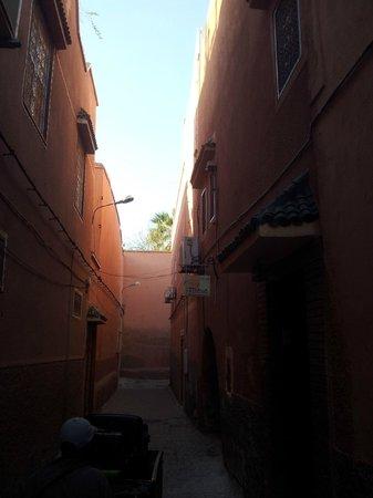 Riad Diana : Zugang zum Hotel