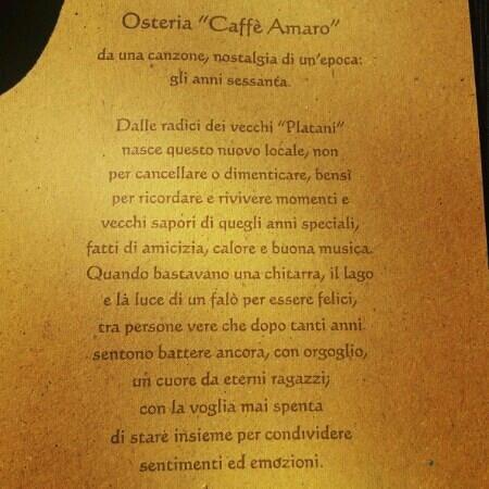Osteria Caffe Amaro: tocco di classe