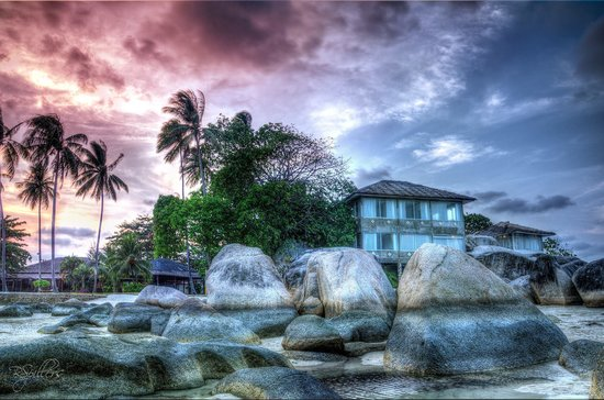Bintan Cabana Beach Resort : Nice view by the sea side during low tide.