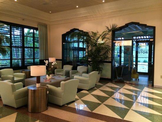 Hotel Astor: The Astor lobby