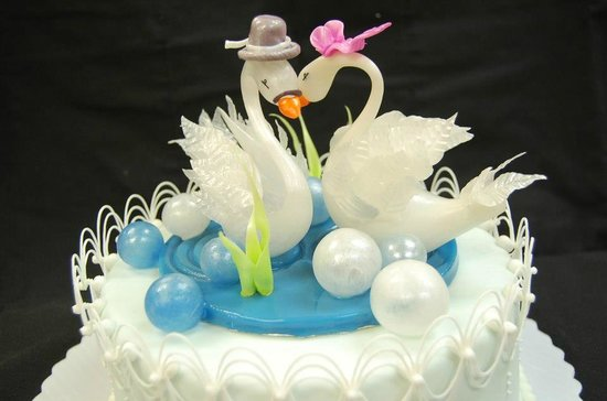 the blown sugar wedding cake cake deco 8 Picture of Pastry