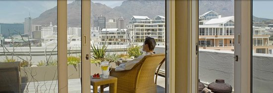 Cape Grace Hotel, View of Table Mountain in Cape Town South Africa