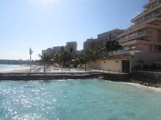 Grand Fiesta Americana Coral Beach Cancun: View of hotel from Isla Mujeres ferry