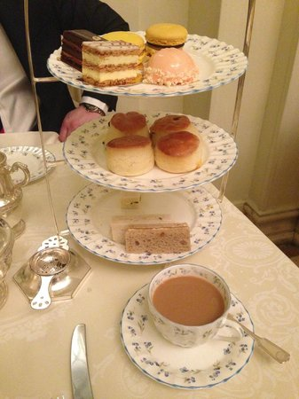 Tea at the Ritz: Our stand which was constantly being filled up!