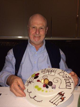 Sofitel London Gatwick: Great 70th birthday surprise! Merci Chef.
