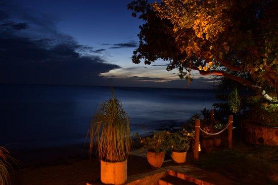 Pousada Jeriba: Deck vista mar