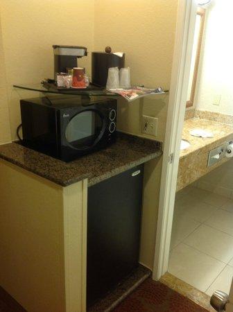 Desert Palms Hotel & Suites: brigobar e microondas