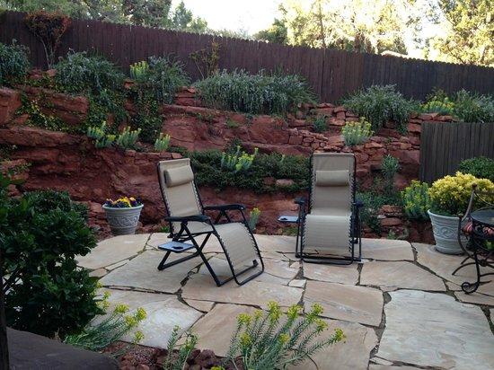 Adobe Grand Villas : Whispering Pines patio