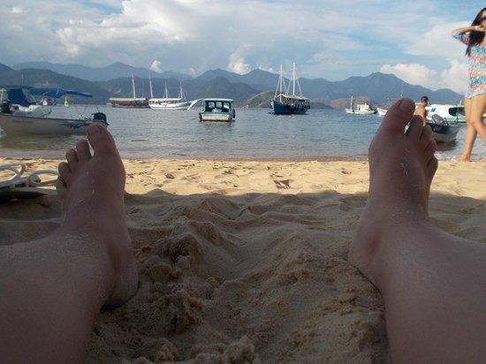 Praia de Japariz: Vista desde la playa