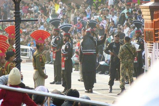 Wagah Border : Border closing ceremony