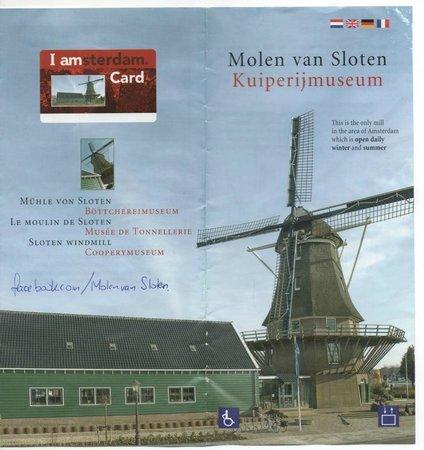 Rembrandt Molen van Sloten - Amsterdam / Kuiperijmuseum : Mulino a vento