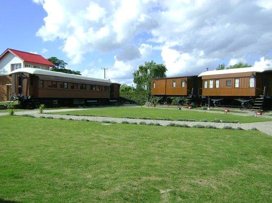 Museo del Ferrocarril : Pátio onde estão os vagões