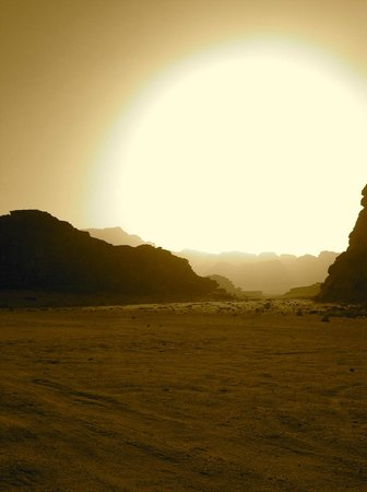 Wadi Rum, Jordanien: O por do sol!