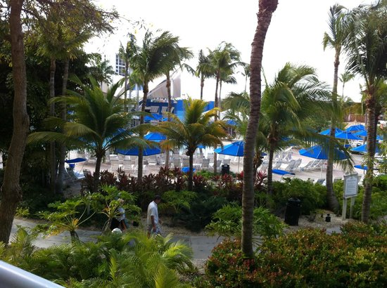 Marriott's Aruba Surf Club: Looking back towards the road from our balcony
